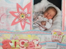Baby Girl Scrapbook Album 1
