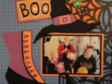 Halloween Scrapbook Album 1